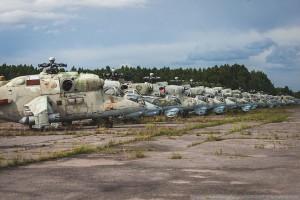 Кладбище вертолетов под Петербургом