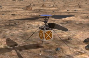 Первый марсианский вертолет совершил испытательный полет